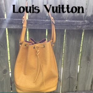 Louis Vuitton Petit Epi Noe Bucket Bag